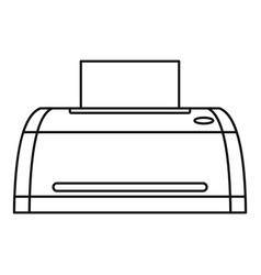 digital printer icon outline style vector image