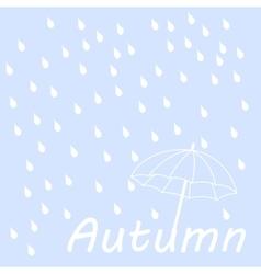 Dry text under umbrella vector image