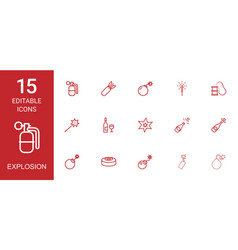 explosion icons vector image