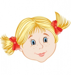 face of little girl vector image