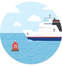 Flat ocean and sea transport boat vector image