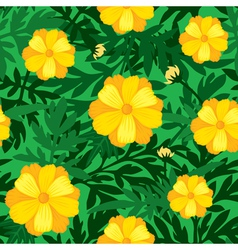 flower seamless yellow vector image