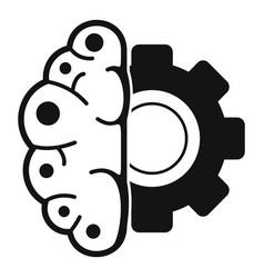 gear brain ai icon simple style vector image