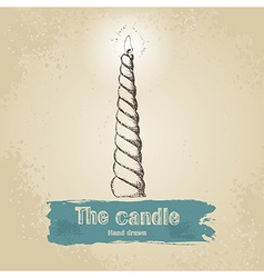 Hand drawn candle vector image