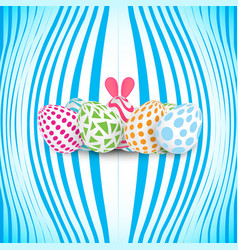 happy easter 3d realistic design with egg and vector image