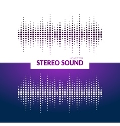 HQ sound waves Music waveform background vector image