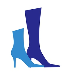 Icon boots vector
