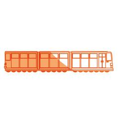 Isolated merchandise train vector