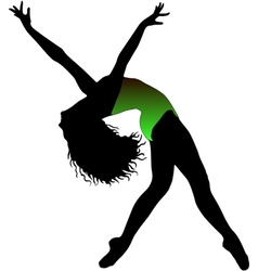 jazz dancer vector image