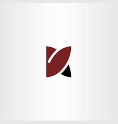 K logo icon symbol sign element logotype vector