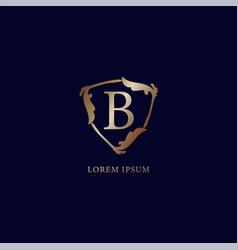 Letter b alphabetic logo design template luxury vector