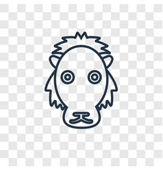 lion concept linear icon isolated on transparent vector image