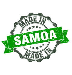 made in samoa round seal vector image