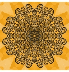 Mandala-like open-work on seamless texture Hand vector