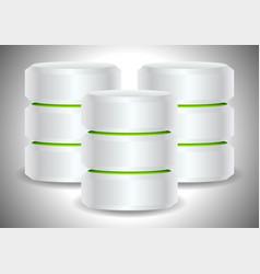 Metallic cylinders hard disk drive hdd server vector