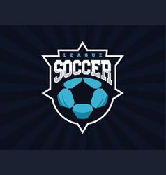 Modern professional soccer logo for sport team vector