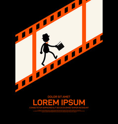 Movie and film poster design template background vector