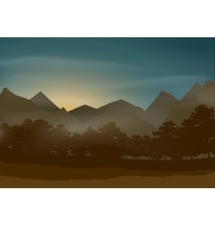 Mysterious beautiful natural landscape vector