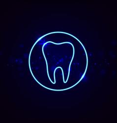 Neon dental sign vector