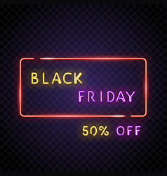 neon frame with black friday vector image