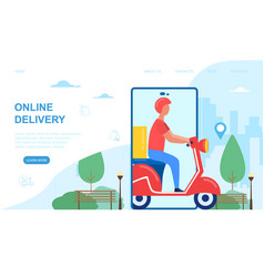 online delivery concept vector image