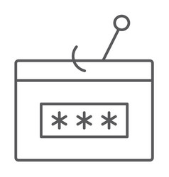 Password fishing thin line icon security attack vector