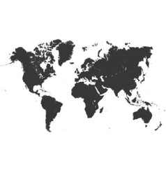 pixel dotted world map vector image
