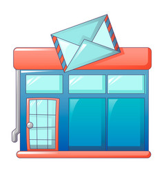 postal office icon cartoon style vector image