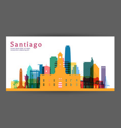 Santiago colorful architecture vector