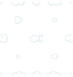 seamless pattern background with clouds vector image
