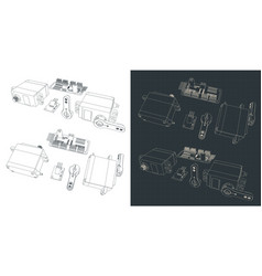Servo motor kit vector