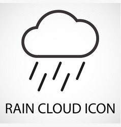 simple rain cloud icon vector image