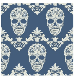 Skull Swirl Decorative Pattern vector