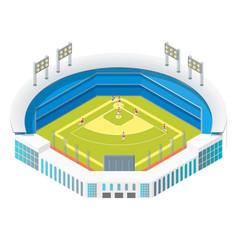 soccer or baseball park or stadium concept 3d vector image
