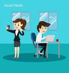 Social Addiction vector