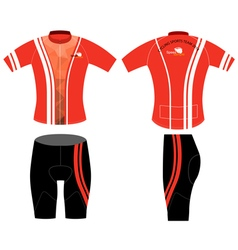 Sports shirt red style vector