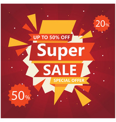 Super sale up to 50 20 off special offer vector