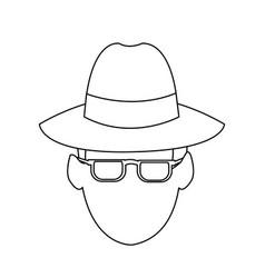 suspicious looking man icon image vector image