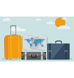 Travel background isolated on stylish background vector image