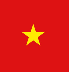 vietnam flag icon in flat style national sign vector image