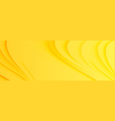Yellow curves and waves abstract background vector