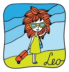 Zodiac signs Leo vector