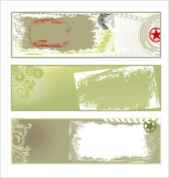 abstract grunge banners vector image vector image