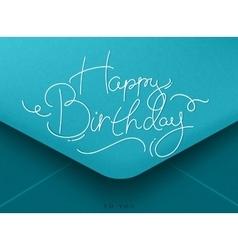 Birthday envelope blue vector image vector image