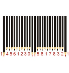 black pencil barcode vector image