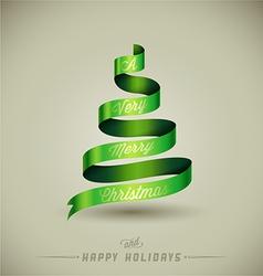 Creative Christmas tree vector image