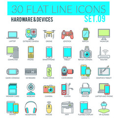 hardware devices icons vector image