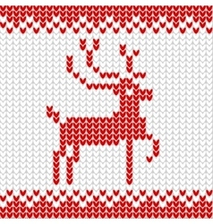 Knitted realistic seamless pattern of white color vector image