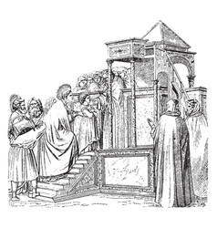 the presentation in the temple can be found in vector image
