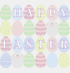 card with colored eggs vector image